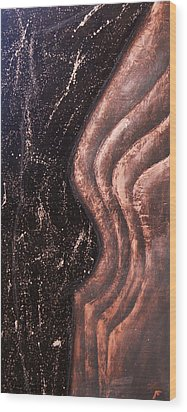 Reverberation Wood Print by Bojana Randall