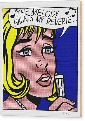 Reverie Wood Print by Roy Lichtenstein