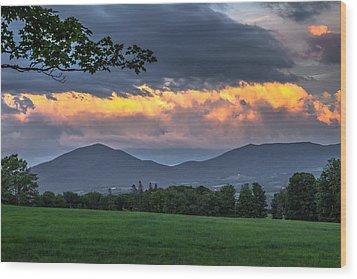 Reverse Sunset Wood Print