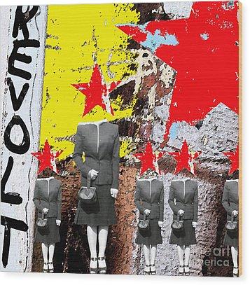 Revolt Wood Print by Gary Everson
