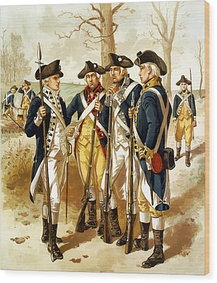 Revolutionary War Infantry Wood Print by War Is Hell Store