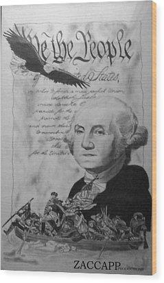 Revolutionary War Wood Print by Zachary  Capodici