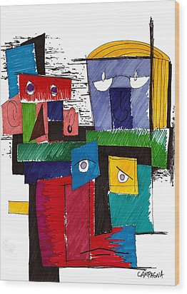 Revue Board Wood Print by Teddy Campagna