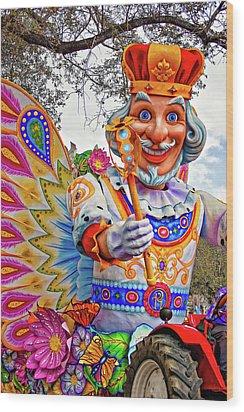 Rex Rides In New Orleans Wood Print by Steve Harrington