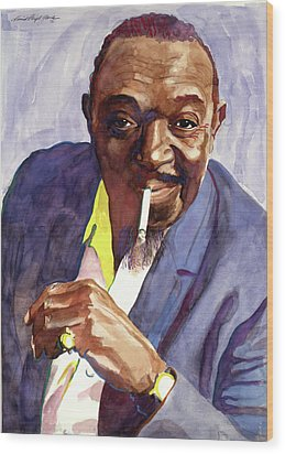 Rex Stewart Jazz Man Wood Print by David Lloyd Glover