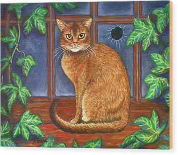 Rex The Cat Wood Print by Linda Mears