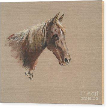Reyena At The Morgan Horse Ranch Prns Wood Print by Paul Miller