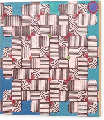 Rfb1006 Variation IIi Diagonal Wood Print by Robert F Battles