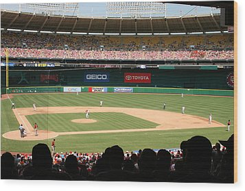 Rfk Stadium Wood Print by Lance Freeman