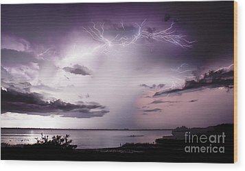 White Lightning Wood Print