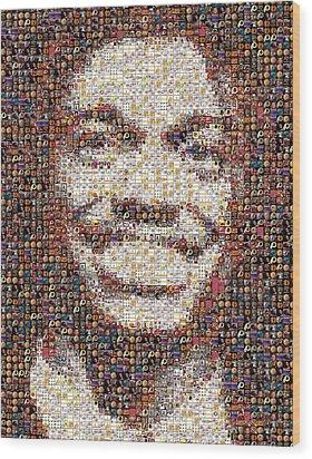 Rg3 Redskins History Mosaic Wood Print by Paul Van Scott