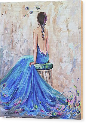 Wood Print featuring the painting Rhapsody In Blue by Jennifer Beaudet