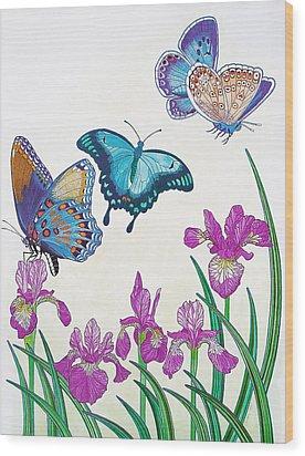 Rhapsody In Blue Wood Print by Vlasta Smola