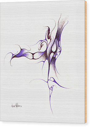 Rhapsody Of Contortion  Wood Print by Nathaniel Hoffman