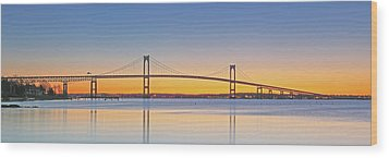 Rhode Island Newport Bridge Wood Print by Juergen Roth