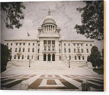 Rhode Island State House Wood Print by Lourry Legarde