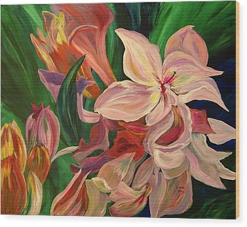 Rhododendron Wood Print by Donna Drake