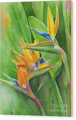 Rhonica's Garden Wood Print