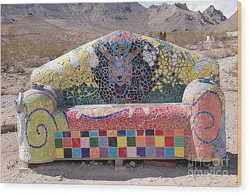 Wood Print featuring the photograph Rhyolite Sofa by Walter Chamberlain