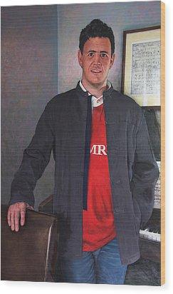 Rhys Meirion Wood Print by Harry Robertson