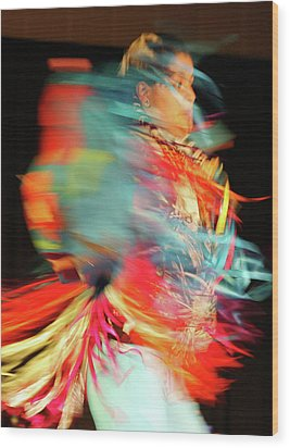 Rhythm Of Dance Wood Print