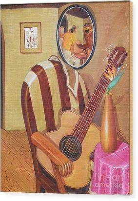 Rhythmic Echoes Wood Print by David G Wilson
