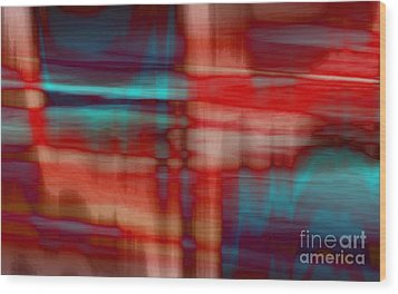 Rhythmic Stripes Wood Print by Tlynn Brentnall