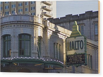 Rialto Tacoma Wood Print by Cathy Anderson