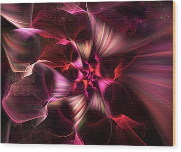 Ribbon Candy Rose Wood Print