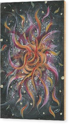 Spasmodic Bloom Wood Print