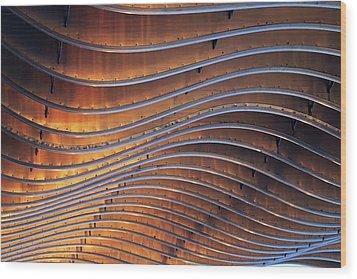 Ribbons Of Steel Wood Print