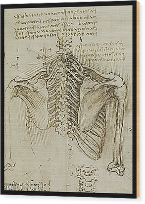 Ribcage Main Wood Print by James Christopher Hill