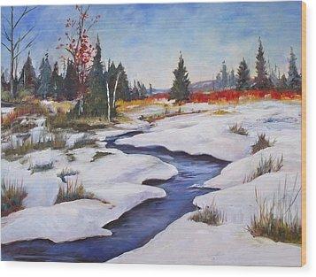 Rice Lake Wood Print by Diane Daigle