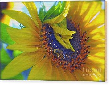 Rich In Pollen Wood Print