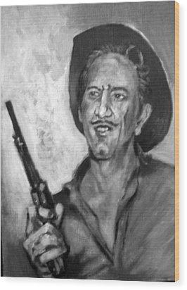 Richard  Boone Wood Print by Paul Weerasekera
