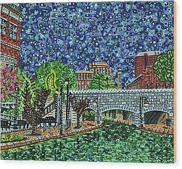 Richmond Canal Walk Wood Print by Micah Mullen