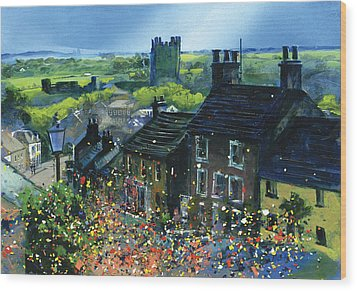 Richmond Carnival In Frenchgate Wood Print by Neil McBride