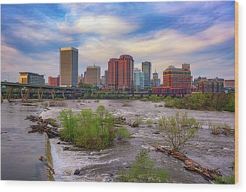 Wood Print featuring the photograph Richmond Skyline by Rick Berk