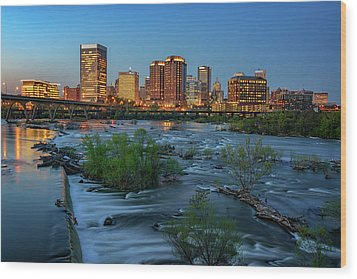 Wood Print featuring the photograph Richmond Twilight by Rick Berk