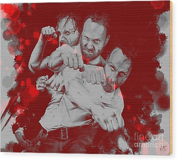 Rick Grimes Wood Print by David Kraig