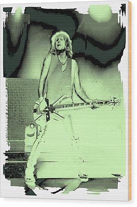 Rick Savage - Def Leppard Wood Print