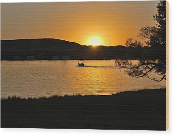 Wood Print featuring the photograph Ride Into The Sunset by Teresa Blanton