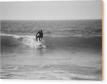 Ride The Surf Wood Print by Bransen Devey