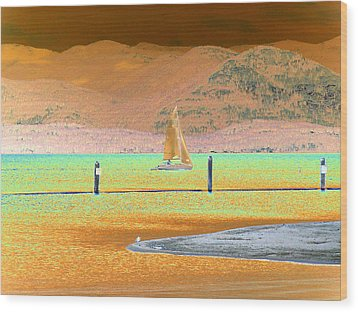 Ride The Wind Wood Print by Peter  McIntosh