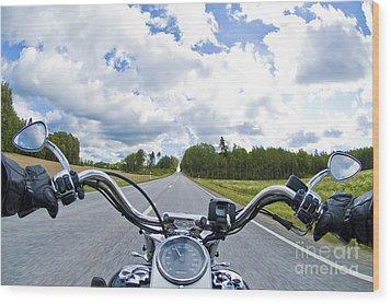 Riders Eye View Wood Print by Micah May