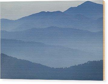 Ridgelines Great Smoky Mountains Wood Print
