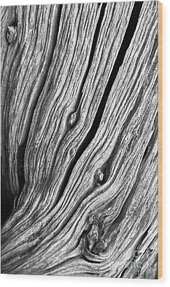 Wood Print featuring the photograph Ridges - Bw by Werner Padarin