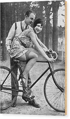 Riding Bike Makes Sexy Wood Print by Steve K
