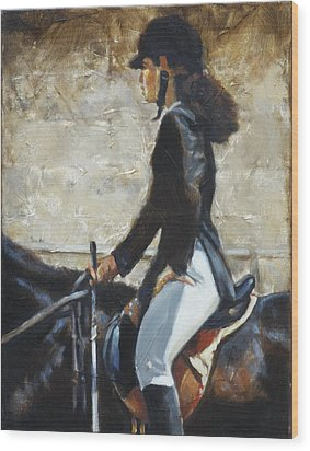 Riding English Wood Print by Harvie Brown