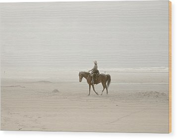 Wood Print featuring the photograph Riding On The Beach by Craig Perry-Ollila